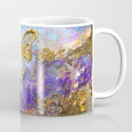 Shimmery Blue & Purple Opal Encrusted in Gold Coffee Mug