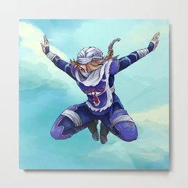 Sheik Skydiving Metal Print