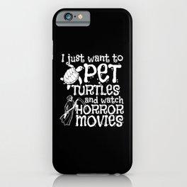 Halloween Pet Watch Horror Movies Turtle iPhone Case