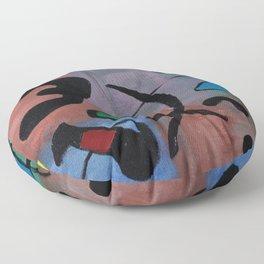 Inspired by Joan Miro Floor Pillow
