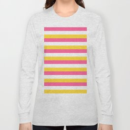 Simple striped design with beautiful bright summer colors Long Sleeve T-shirt