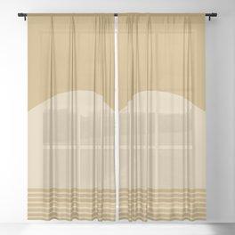 Sunrise / Sunset XII Sheer Curtain