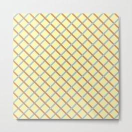 Vector grid Metal Print