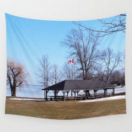 Shelter by the Lake Wall Tapestry