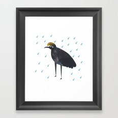U is for Umbrella bird Framed Art Print