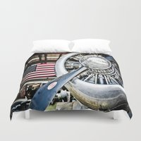 aviation Duvet Covers featuring Aviation in the USA by Eye Shutter to Think Photography