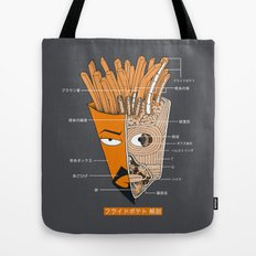 French Fries Anatomy Tote Bag