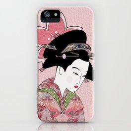 Cherry Blossom Geisha iPhone Case