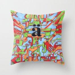 A Umlaut Throw Pillow