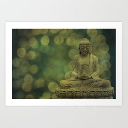 Buddha light gold Art Print
