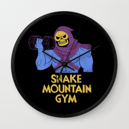 snake mountain gym Wall Clock