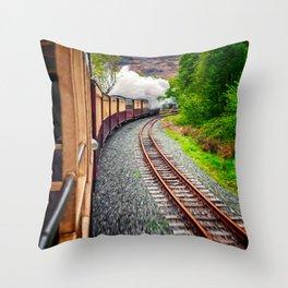 Welsh Highland Railway Snowdonia Throw Pillow