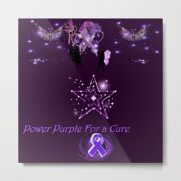 Power Purple For a Cure - Mystic Alternate Metal Print