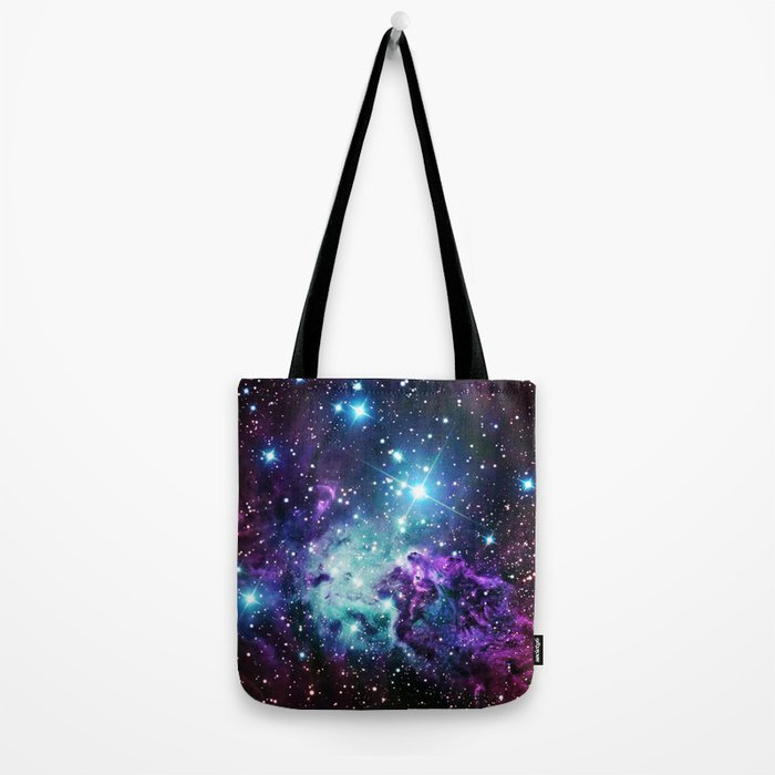 Fox Fur Nebula : Purple Teal Galaxy Tote Bag