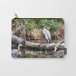 Three Herons in water at Wollaton Hall Carry-All Pouch