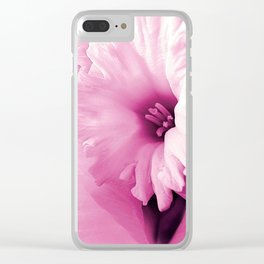 Spring Pink Clear iPhone Case