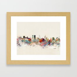 istanbul skyline Framed Art Print