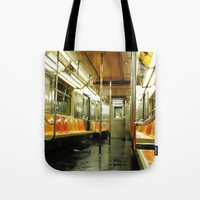subway Tote Bags featuring Subway by Bryan McKinney