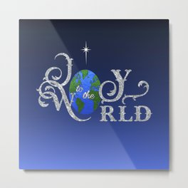 Joy to the World Silver Metal Print