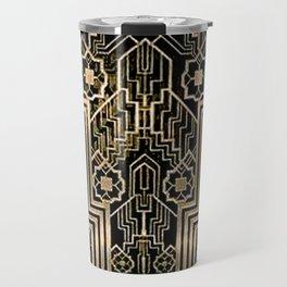 Art Nouveau Metallic design Travel Mug