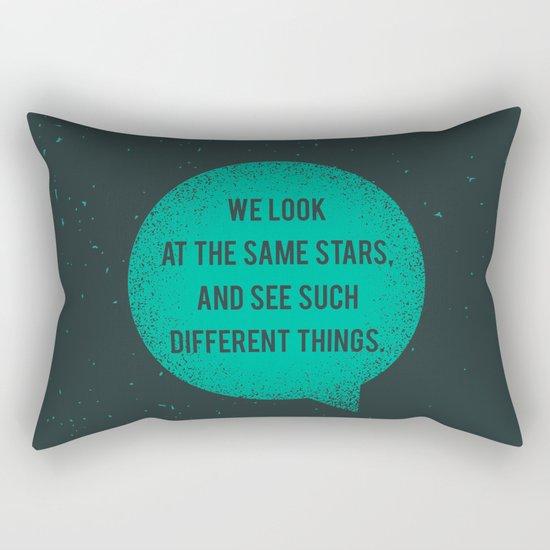 Same Stars - Different Things Rectangular Pillow