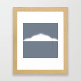 Calculus Gray Framed Art Print