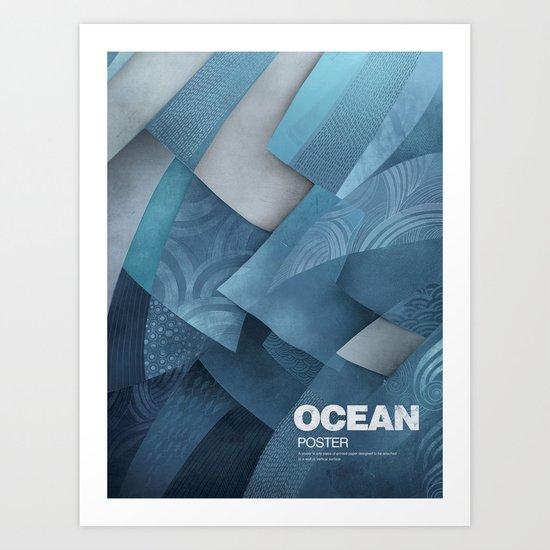 Ocean poster Art Print