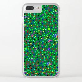 Colorful Rain 08 Clear iPhone Case