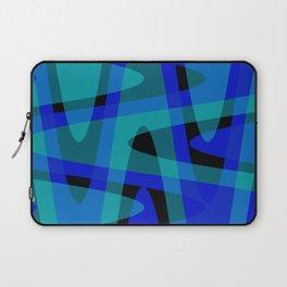 Pastel Waves 2 - Blue Laptop Sleeve