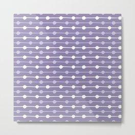 Dots Stripes Ultraviolet Metal Print