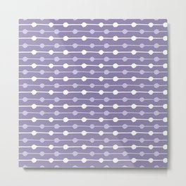 Dots Stripes Ultraviolet Metal Print