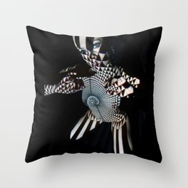 0569- Nude Female Geometric Black White Naked Body Abstracted Sensual Sexy Erotic Art Throw Pillow