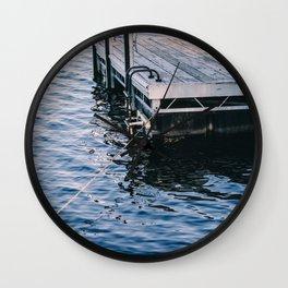 Lake Indigo Wall Clock