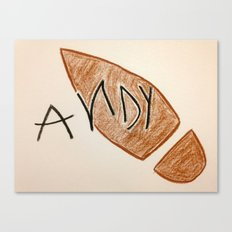 Andy Toy Story Canvas Print