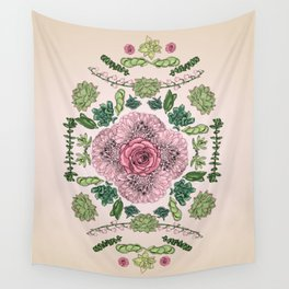 Flower Lace III Wall Tapestry
