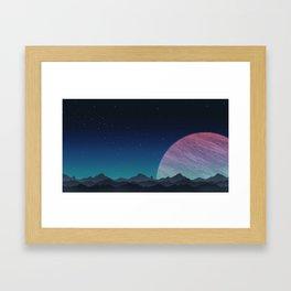 To lands untouched we travel. Framed Art Print
