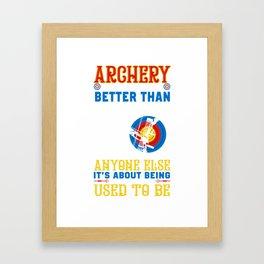 Archery Shirt For Grandson. Gift Ideas Framed Art Print