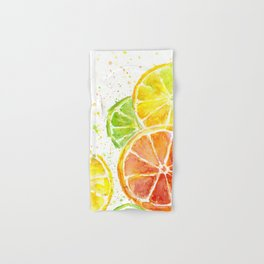 Fruit Watercolor Citrus Hand & Bath Towel