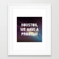 houston Framed Art Prints featuring Houston by Text Guy