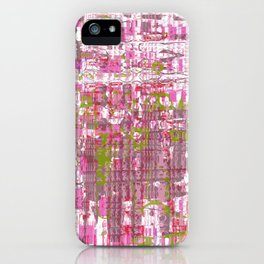 Glassy effects on pink, green and white texture iPhone Case