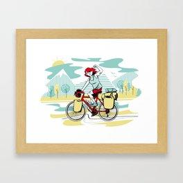 Cycling Girl Framed Art Print