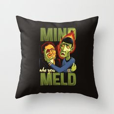 Mind Who you Meld Throw Pillow