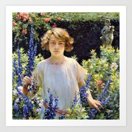 Charles Courtney Curran - Betty Gallowhur - Digital Remastered Edition Art Print