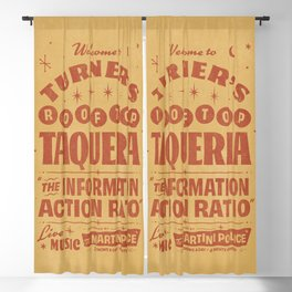 Turner's Rooftop Taqueria Blackout Curtain