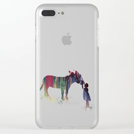 donkey and child art Clear iPhone Case