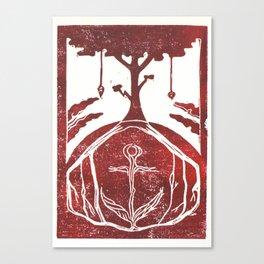 Grounding (White) Canvas Print