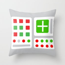Alpha One Rocket Base Throw Pillow