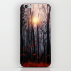 Red feather dance  -  by Viviana Gonzalez iPhone Skin