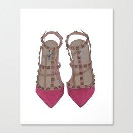 Rockstud Shoes Canvas Print