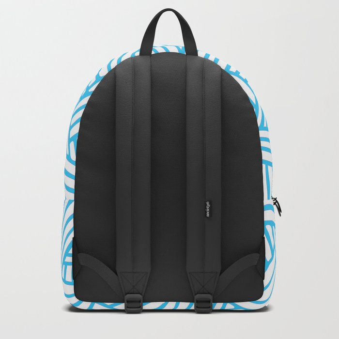 Abstract Teal & white Lines and Triangles Pattern-Mix and Match with Simplicity of Life Backpack